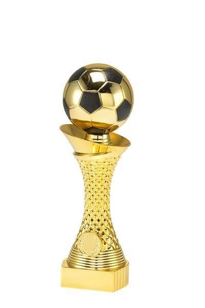 goldener Fußballpokal